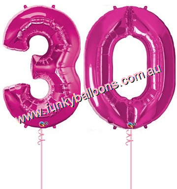 30 Megaloon Numbers Choice Of Colours