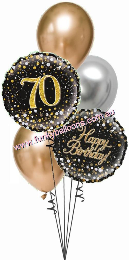 70th Fizz Black Gold Bouquet